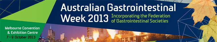Australian Gastrointestinal Week 2013